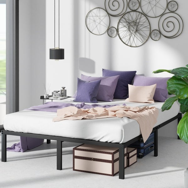 Priage by ZINUS Black Metal Platform Bed Frame. Opens flyout.