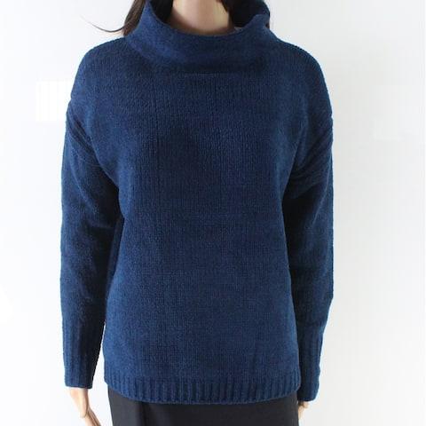 Catherine Malandrino Blue Women's Size Medium M Mock Neck Sweater