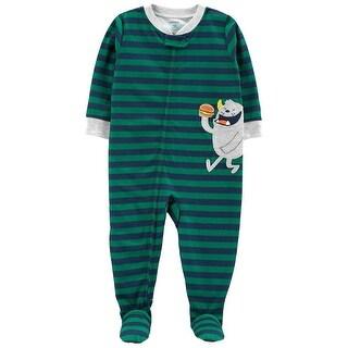 Carter's Baby Boys' 1-Piece Monster Poly PJs