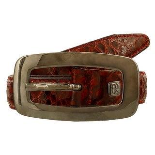 Renato Balestra Meizodon Ro Red Python Leather Womens Belt