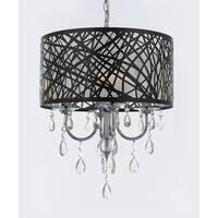 Indoor 4 Light Chrome & Crystal Chandelier Pendant Modern contemporary