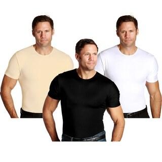 Insta Slim Crew Neck Firming Compression Slimming Under Shirt