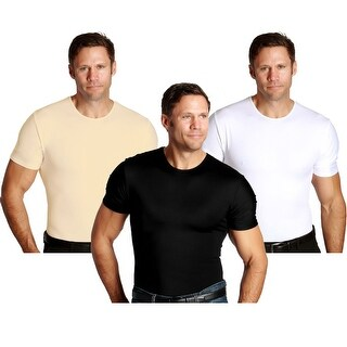Insta Slim Crew Neck Firming Compression Slimming Under Shirt
