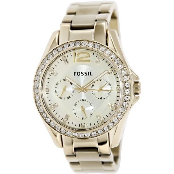 0ebebb5a3fc Shop Fossil Women s Riley Gold Tone Stainles-Steel Fashion Watch ...