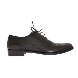 Dolce & Gabbana Dolce & Gabbana Brown Leather Wingtip Formal Shoes - eu44-us11
