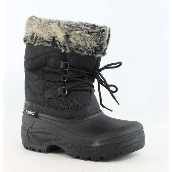Tundra Womens Dot Black/Grey Snow Boots Size 6