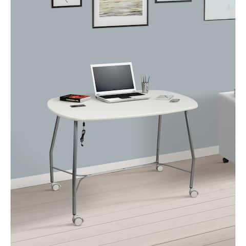 Saint Birch White Computer Desk