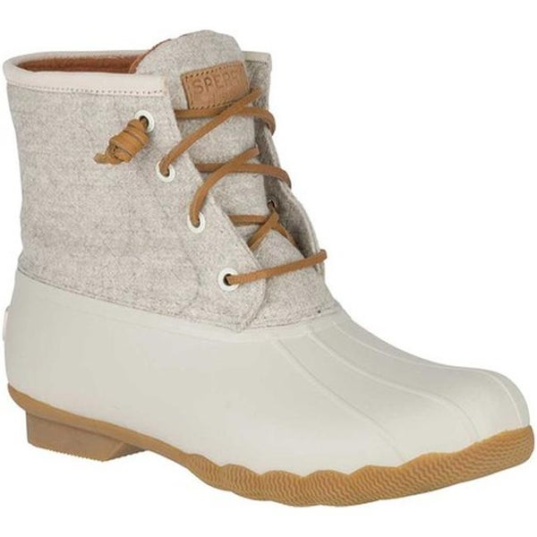 53f386db8682 Shop Sperry Top-Sider Women s Saltwater Duck Boot Off White Wool ...