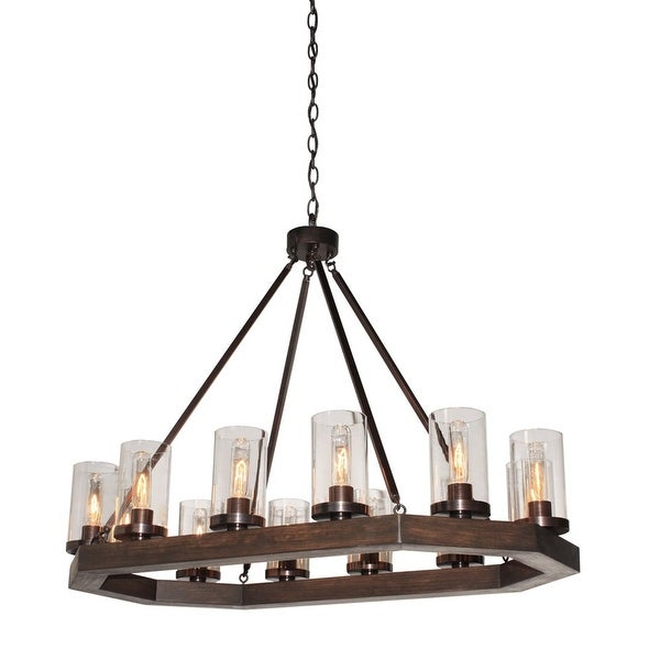 Artcraft Lighting AC10542 Jasper Park 12 Light 1 Tier Linear Chandelier - brunito