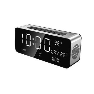 TechComm A10 Bluetooth Speaker with LCD Display, Digital Clock, FM Radio, Hands-free Calling, Alarm Clock and Auxiliary Input