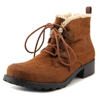 Trotters Snowflakes III Women N/S Round Toe Synthetic Brown Ankle Boot