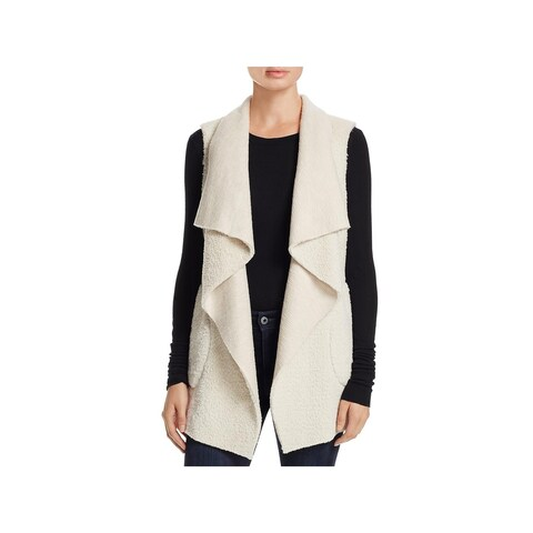 Cupcakes and Cashmere Womens Casual Vest Faux Shearling Draped