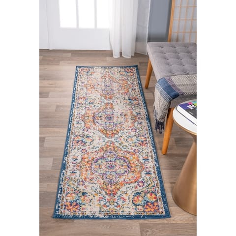 The Curated Nomad Sunset Distressed Vintage Bohemian Rug