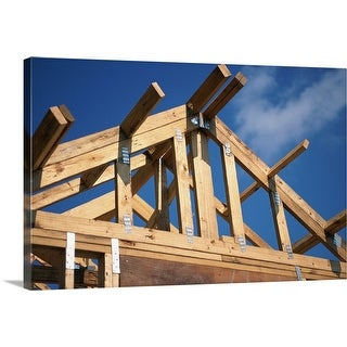 """""""Wooden frame of house"""" Canvas Wall Art"""