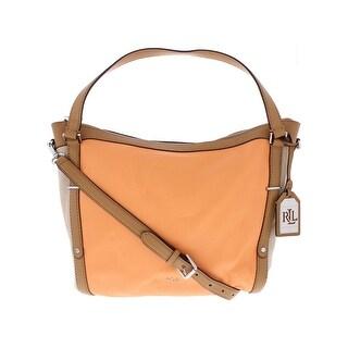 Polo Ralph Lauren Womens Grafton Hobo Handbag Leather Colorblock - LARGE