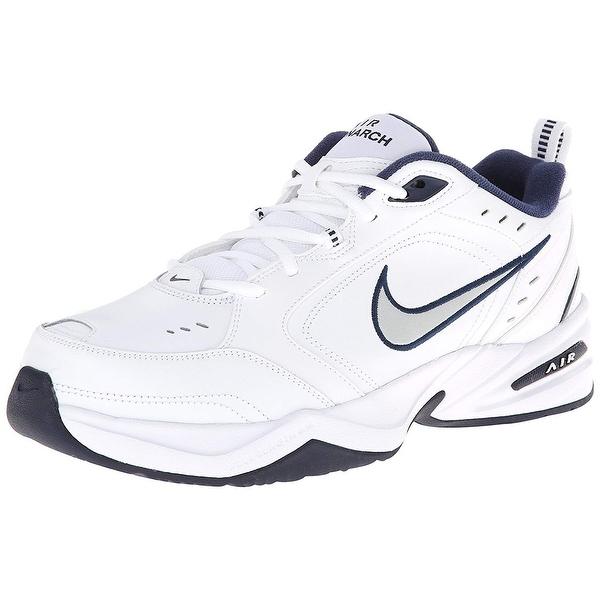 Nike Men's Nike Air Monarch Iv (4E) Running Shoes White Metallic Silver Midnight Navy Us 10.5 M