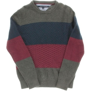 Tommy Hilfiger Mens Knit Long Sleeves Sweater