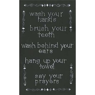 Bathroom Rules Poster Print by Cindy Shamp, 12 x 18 - Small