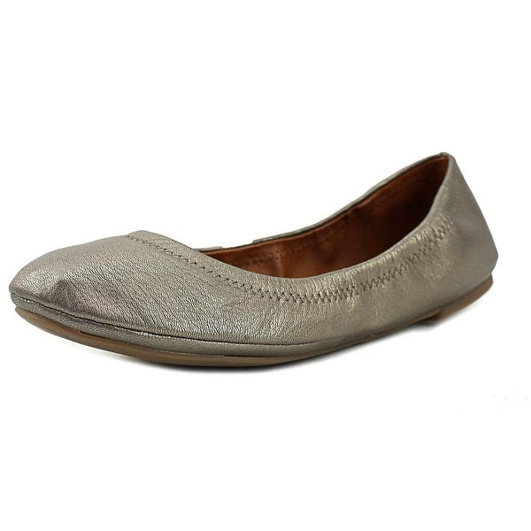 Lucky Brand Emmie Women W Round Toe Leather Gray Flats