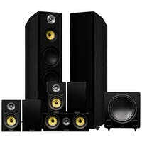 Fluance Signature Series Surround Sound Home Theater 7.1 Channel System - Black Ash (HF71BR)