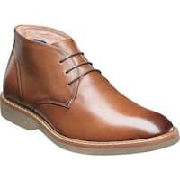 Florsheim Men's Union Plain Toe Chukka Boot Saddle Tan Leather