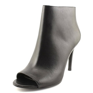 Lauren Ralph Lauren Mina Women  Round Toe Leather Black Ankle Boot