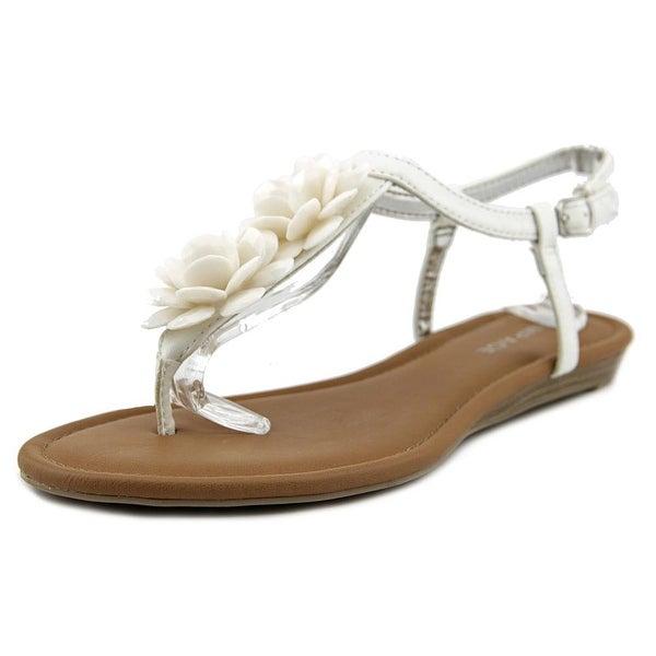 Rampage Dandylion Women Open-Toe Synthetic White Slingback Sandal