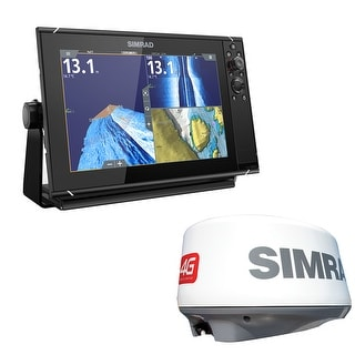 Simrad 000 13792 001 NSS12 Evo3 Fishfinder Combo W 4G Broadband Radar