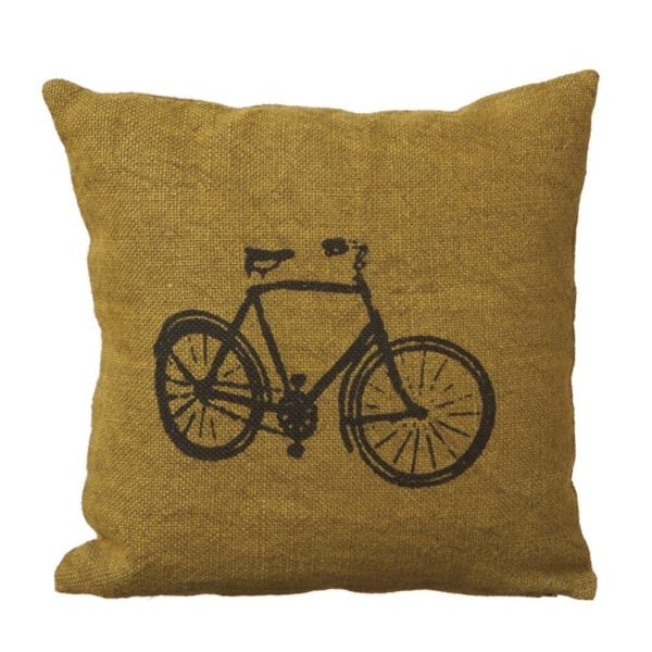 Shop 40 Contemporary Chartreuse Bicycle Jute Decorative Throw Best Chartreuse Pillows Decorative