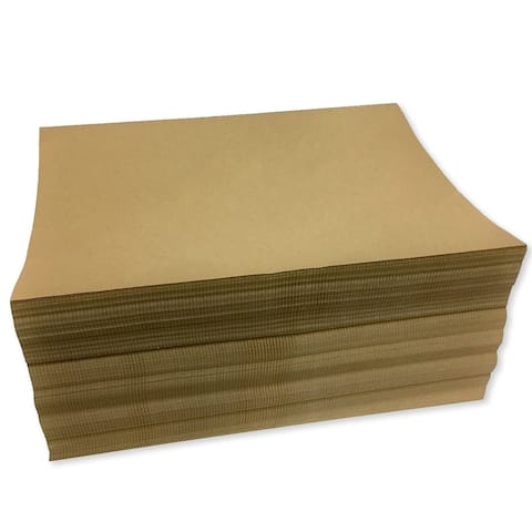 "15"" x 11"" Fanfold 40# Kraft Packing Paper (Ream of 400 Feet) - 15 x 11 in"