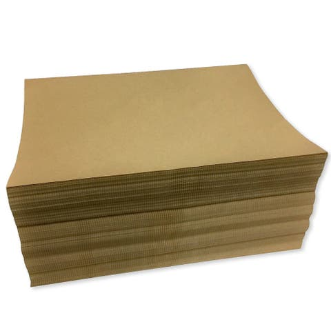 "24"" x 11"" Fanfold 30# Kraft Packing Paper (Ream of 1600 Feet) - 24 x 11 in"