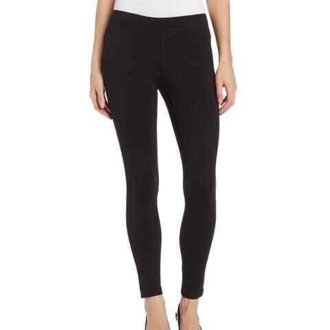 Hue Women's Leggings Deep Black Size Medium M Pull-On Ponte Knit