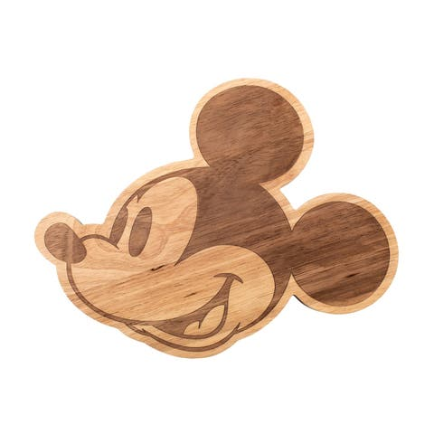 Mickey Mouse Head Cheese Platter and Cutting Board - Laser Cut Wooden Serving Plate for Appetizers, Fruit, Vegetables, Crackers