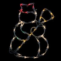 "15"" Lighted Snowman Double Sided Christmas Window Silhouette Decoration"