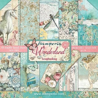 "Stamperia Double-Sided Paper Pad 12""X12"" 10/Pkg-Wonderland"