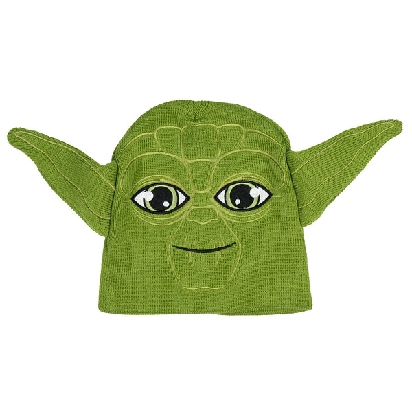 8f68709ebe2 Shop Star Wars Yoda Costume Knit Green Winter Beanie Ears Boys Girls Hat  Cap 4-16 - On Sale - Free Shipping On Orders Over  45 - Overstock - 25362806