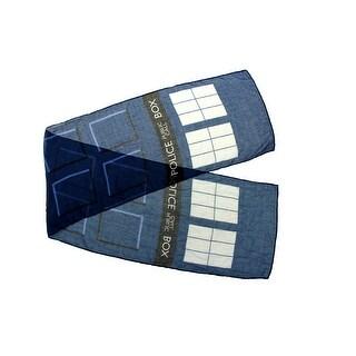 Doctor Who TARDIS Lightweight Adult Costume Scarf - Blue