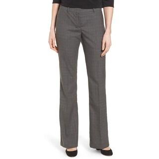 Hugo Boss Womens Tulea3 Plaid Stretch Suit Trouser Pants