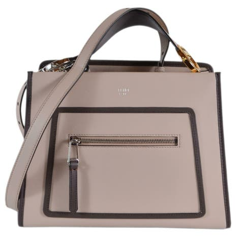 1899f9d39b9 Fendi 8BH344 Soap Beige Smooth Calf Leather Runaway 2-Way Purse Tote Handbag  - Pink