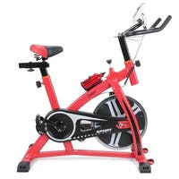 Akonza Pro Stationary 40lbs Flywheel Exercise Cycling Bicycle Heart Pulse Trainer Bike w/ Bottle Holder, Red