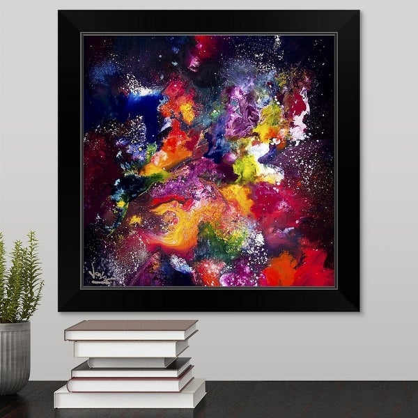 """Cosmic Voyage 214"" Black Framed Print"