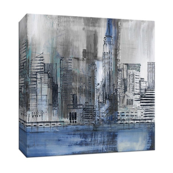 """PTM Images 9-147664 PTM Canvas Collection 12"""" x 12"""" - """"Empire State"""" Giclee New York Art Print on Canvas"""