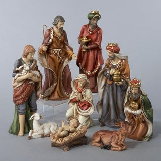 Link to 9-Piece Classical Porcelain Christmas Nativity Figure Set Similar Items in Christmas Decorations
