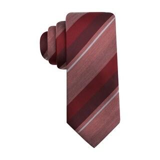 Alfani Spectrum Mckinley Striped Classic Necktie Dark Red Tie