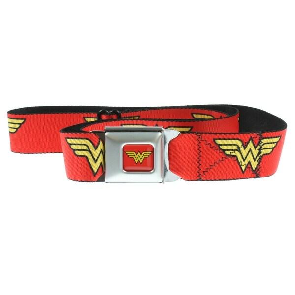 Wonder Woman Red Seatbelt Belt-Holds Pants Up