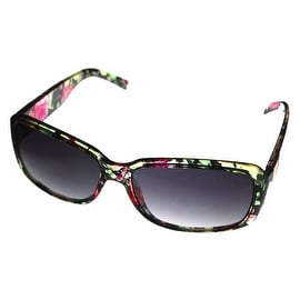 Esprit Women's ET 19452 547 Sunglasses Brown Multi Flower Fashion Rectangle Plastic