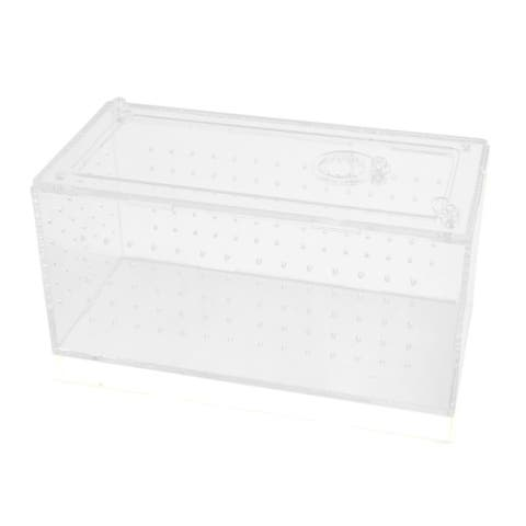 Clear Acrylic Assembled Feeding Box Small Reptiles Crawler House 7.6x3.6x3.5inch