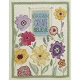 Bucilla Counted Cross Stitch Kit 10 by 13-Inch  45953 Dream,Create, Believe
