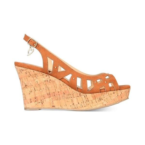 Thalia Sodi Womens Ebbie Fabric Open Toe Casual Platform Sandals