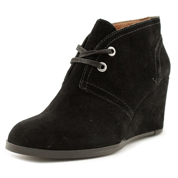 Lucky Brand Seleste Women Round Toe Suede Black Ankle Boot - 7